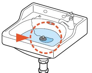 ゴム栓が緩んで水が溜まりにくい