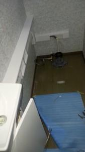 排水管と給水管を大便器と共有させる状況がよくわかります