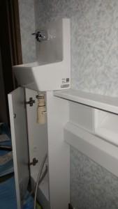 手洗い器付カウンターは新設