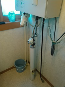 配管から水漏れ
