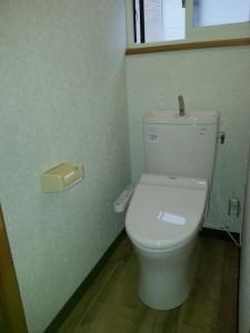 2階トイレ取り付け完了