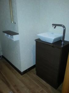 1階の手洗器は手が洗いやすくおしゃれになりました