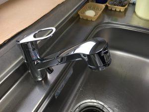 シャワー付き水栓に交換