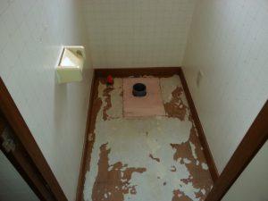 床排水位置変更 200mmにします